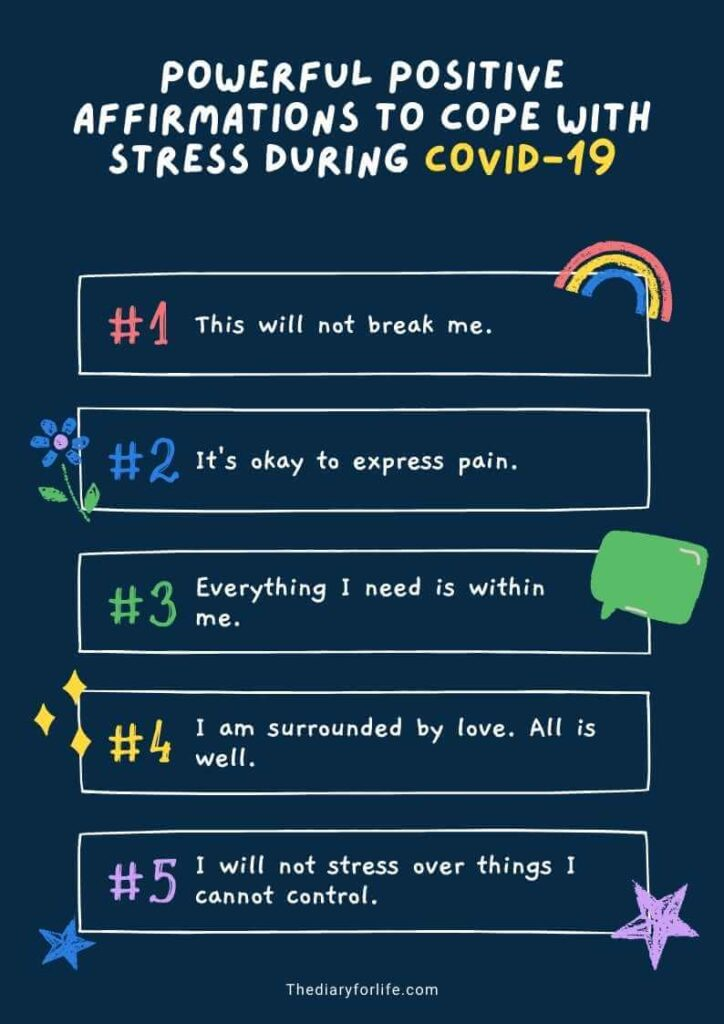 positive affirmations for covid 19stress