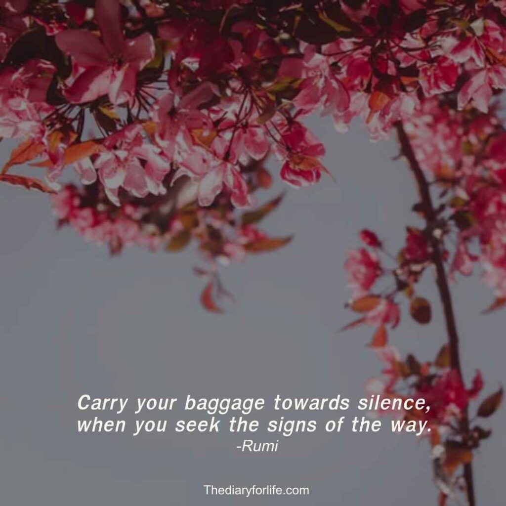 rumi quotes on silence