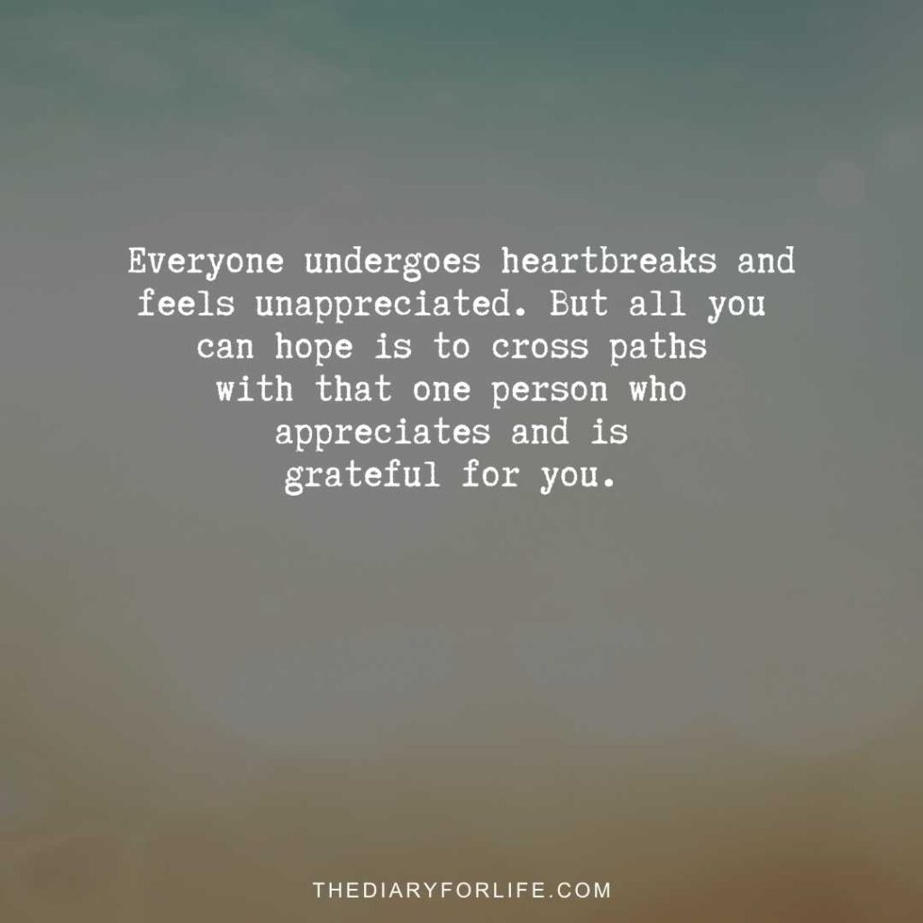 quotes about not being appreciated